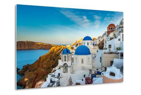 The Famous Blue and White City Oia,Santorini-scorpp-Metal Print