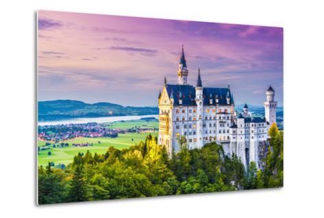 Neuschwanstein Castle in Germany.-SeanPavonePhoto-Metal Print