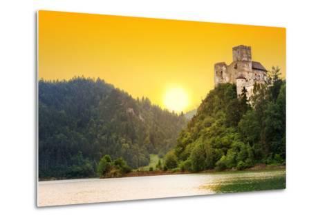 Medieval Niedzica Castle at Czorsztyn Lake in Poland-Patryk Kosmider-Metal Print