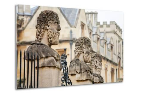 Sheldonian Statues. Oxford,  England-Arsty-Metal Print