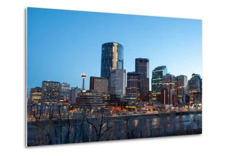 Calgary Skyline at Night-Jeff Whyte Photography-Metal Print