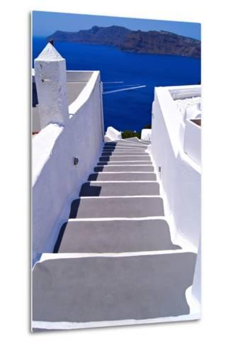Greek Lane-Jeni Foto-Metal Print