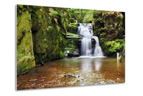 Waterfall in Resov in Moravia, Czech Republic-TTstudio-Metal Print