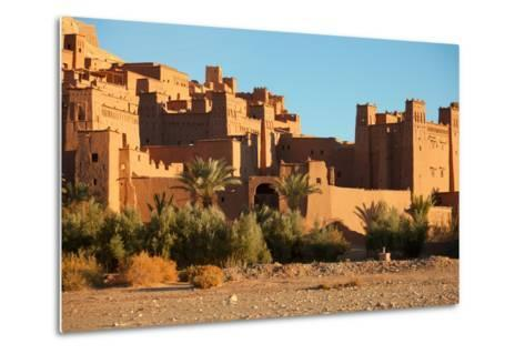 Ait Benhaddou is a Fortified City, or Ksar, along the Former Caravan Route between the Sahara and M-A_nella-Metal Print