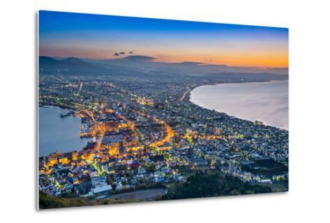Hakodate, Japan Viewed from Hakodate Mountain.-SeanPavonePhoto-Metal Print