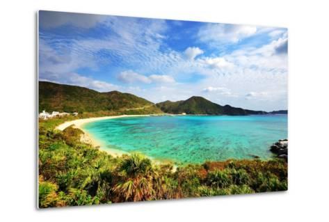 Aharen Beach on the Island of Tokashiki in Okinawa, Japan.-SeanPavonePhoto-Metal Print