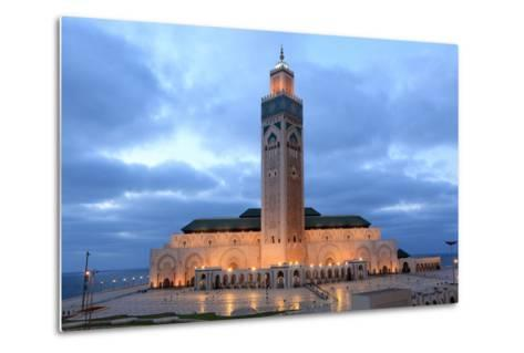 Hassan Ii Mosque in Casablanca-p.lange-Metal Print