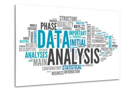 Word Cloud Data Analysis-mindscanner-Metal Print