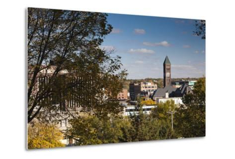 Elevated Skyline with Old Courthouse, Sioux Falls, South Dakota, USA-Walter Bibikow-Metal Print
