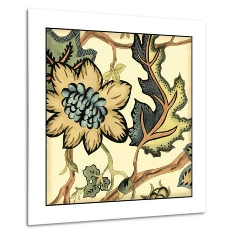 Small Jacobean Tile III-Chariklia Zarris-Metal Print