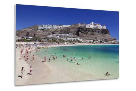Playa De Los Amadores, Gran Canaria, Canary Islands, Spain, Atlantic, Europe-Markus Lange-Metal Print