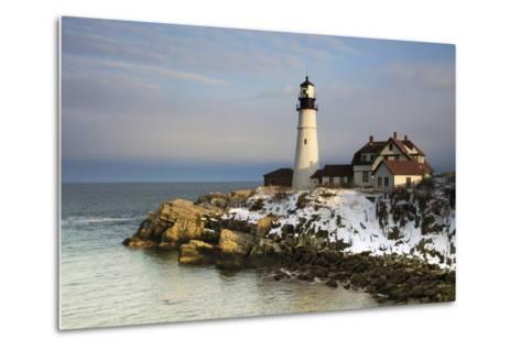Portland Head Light, Cape Elizabeth, Casco Bay, Maine, USA-Michel Hersen-Metal Print