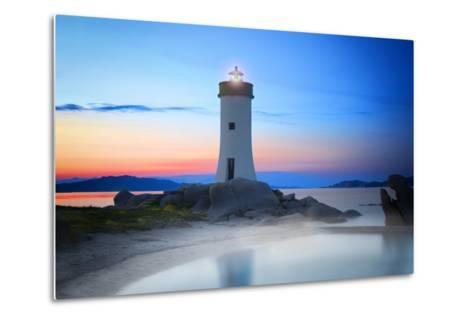 Palau Lighthouse-Marco Carmassi-Metal Print