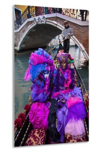 Elaborate Costumes for Carnival Festival, Venice, Italy-Jaynes Gallery-Metal Print