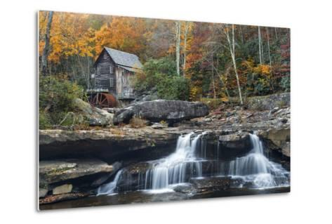 Grist Mill on Glade Creek at Babcock State Park, West Virginia, USA-Chuck Haney-Metal Print