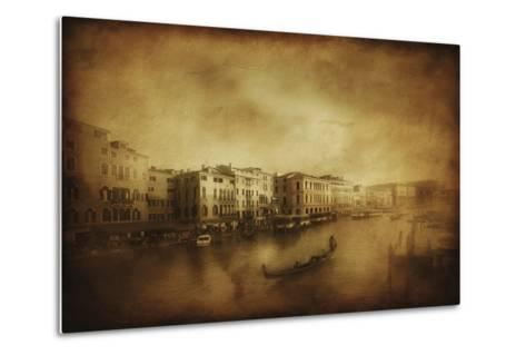 Vintage Shot of Grand Canal, Venice, Italy--Metal Print