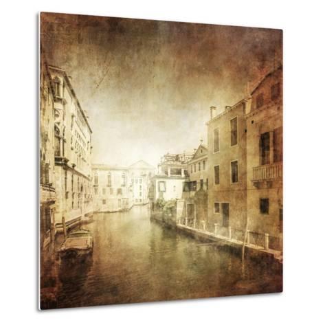 Vintage Photo of Venetian Canal, Venice, Italy--Metal Print