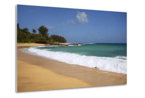 Scenic of Secret Beach, Kauai, Hawaii, USA-Jaynes Gallery-Metal Print