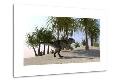 Tyrannosaurus Rex Hunting for its Next Meal--Metal Print