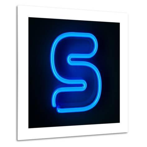 Neon Sign Letter S-badboo-Metal Print