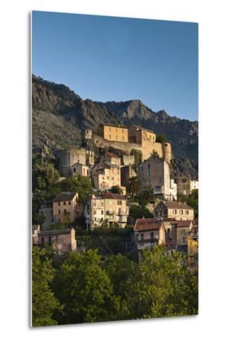 City and Citadel, Corte, Corsica, France-Walter Bibikow-Metal Print
