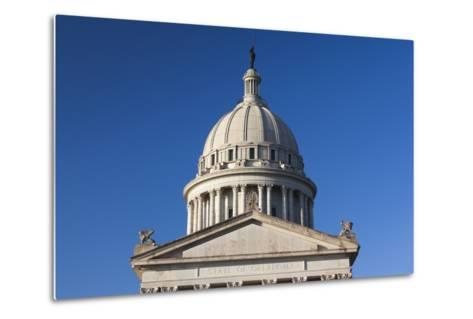 Oklahoma State Capitol Building, Oklahoma City, Oklahoma, USA-Walter Bibikow-Metal Print