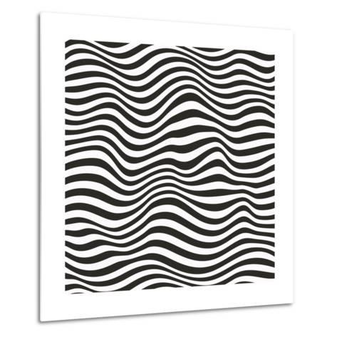 Striped Pattern-Magnia-Metal Print