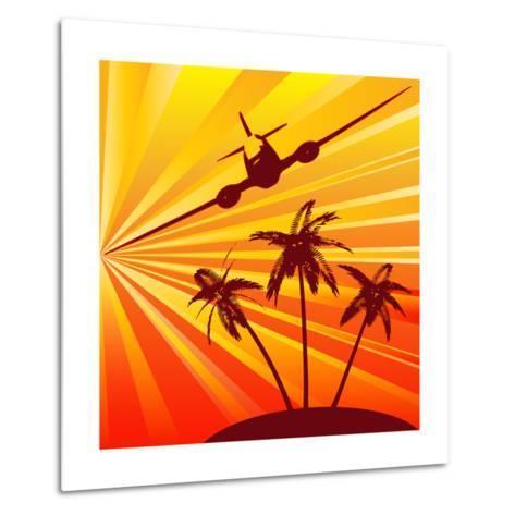 Tropical Travel-Petrafler-Metal Print