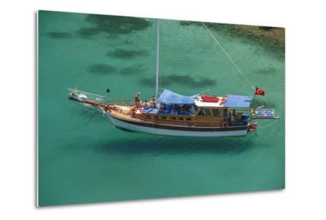 Gulet in Paradise Cove (Ilica Buku), Bodrum, Mugla, Turkey-Ali Kabas-Metal Print
