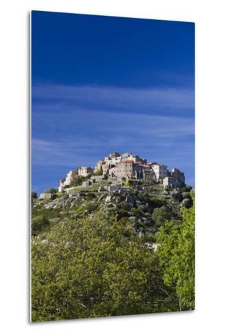Elevated Town View, Sant Antonino, La Balagne, Corsica, France-Walter Bibikow-Metal Print