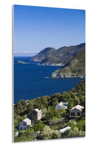 Coastal View of Pino, Le Cap Corse, Corsica, France-Walter Bibikow-Metal Print
