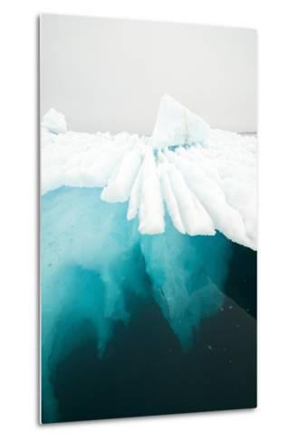 Glacial Iceberg Floating Along Coast, Spitsbergen, Svalbard, Norway-Steve Kazlowski-Metal Print