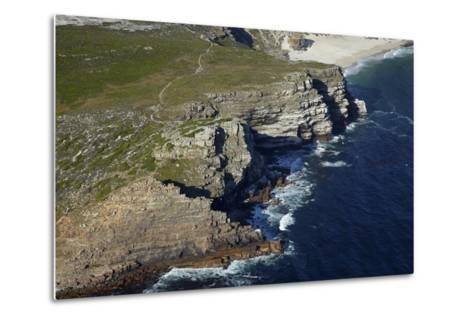Aerial of Cape of Good Hope, Cape Peninsula, Cape Town, South Africa-David Wall-Metal Print