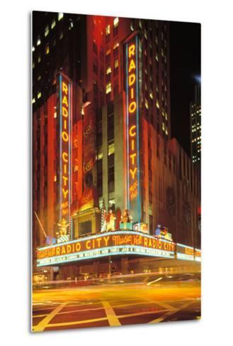 Radio City Music Hall, Manhattan, New York, USA-Peter Bennett-Metal Print