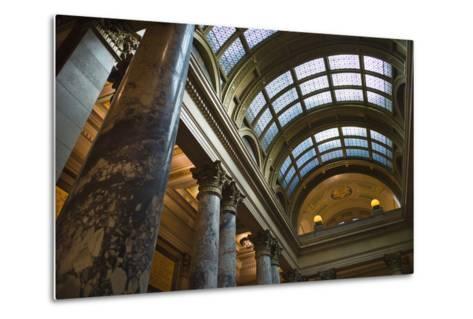 Minnesota State Capitol Interior, Stpaul, Minneapolis, Minnesota, USA-Walter Bibikow-Metal Print