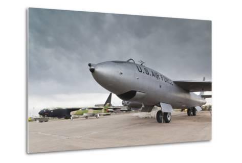 Boeing B-47, Kansas Aviation Museum, Wichita, Kansas, USA-Walter Bibikow-Metal Print