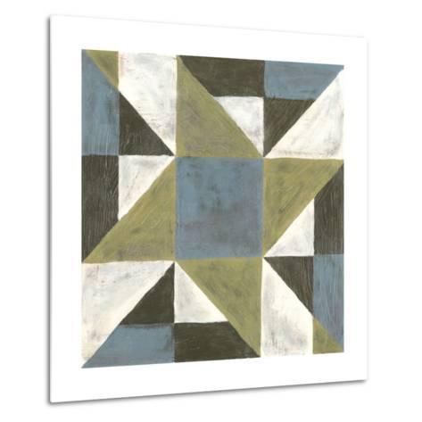 Patchwork Tile I-Vanna Lam-Metal Print