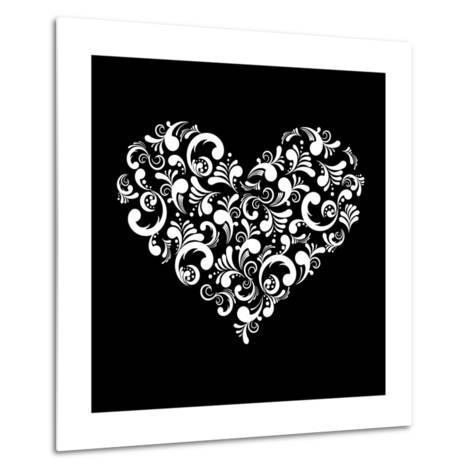 Abstract Heart-Kumer-Metal Print