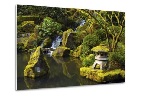 Portland Japanese Garden in Spring, Portland, Oregon, USA-Michel Hersen-Metal Print