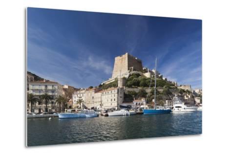 Port and Citadel at Morning, Bonifacio, Corsica, France-Walter Bibikow-Metal Print