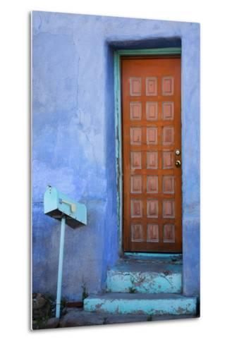 Colorful Doorway, Barrio Historico District,Tucson, Arizona, USA-Jamie & Judy Wild-Metal Print