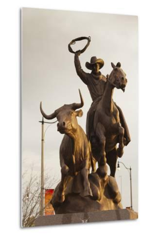 Rodeo Sculpture, Oklahoma City, Oklahoma, USA-Walter Bibikow-Metal Print