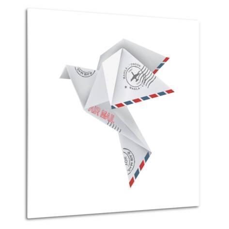 Origami Pigeon-jiris-Metal Print