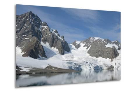 Hornbreen Glacier, Spitsbergen, Svalbard, Norway-Steve Kazlowski-Metal Print
