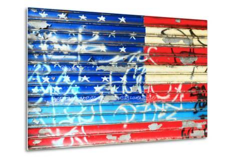 American Flag Graffiti-Sabine Jacobs-Metal Print