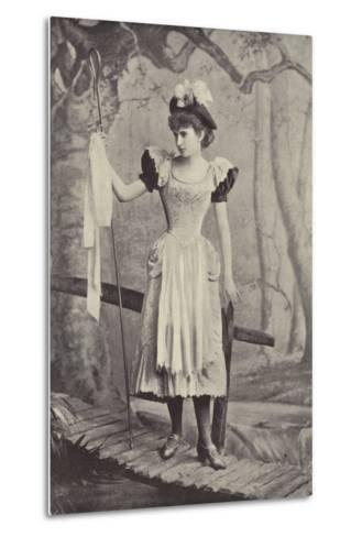 "Miss Irene Iris, as Little Bo Peep, in ""Red Riding Hood,"" Gaiety Theatre, Dublin--Metal Print"