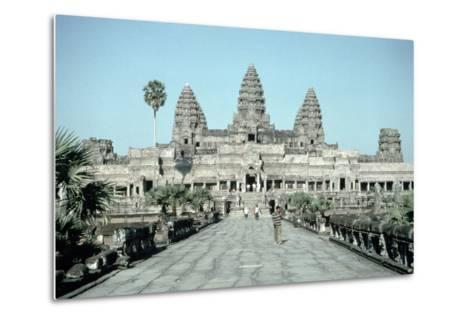 Approach to the East Gate of the Angkor Wat, Completed C.1150--Metal Print