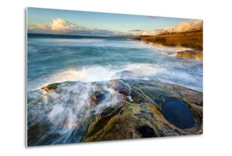 Rock Formations Along the Coastline Near Sunset Cliffs, San Diego, Ca-Andrew Shoemaker-Metal Print