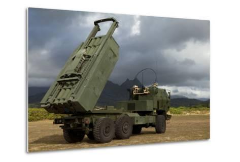 A M142 High Mobility Artillery Rocket System--Metal Print