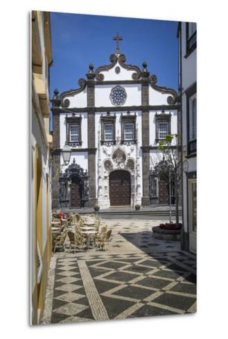 Church of Saint Sebastian in Ponta Delgada, AZores, Portugal-Brian Jannsen-Metal Print
